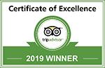 Tripadvisor Certificat d'Excellence 2019
